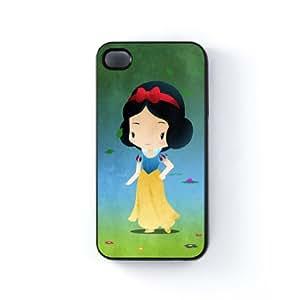 Princess Snow White Carcasa Protectora Snap-On en Plastico Negro para Apple® iPhone 4 / 4s de DevilleArt + Se incluye un protector de pantalla transparente GRATIS