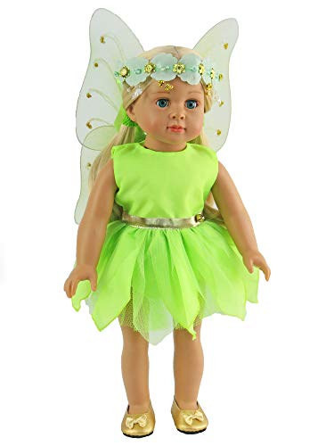 Tinker Bell Inspired Outfit for 18 Inch Dolls | Fits 18