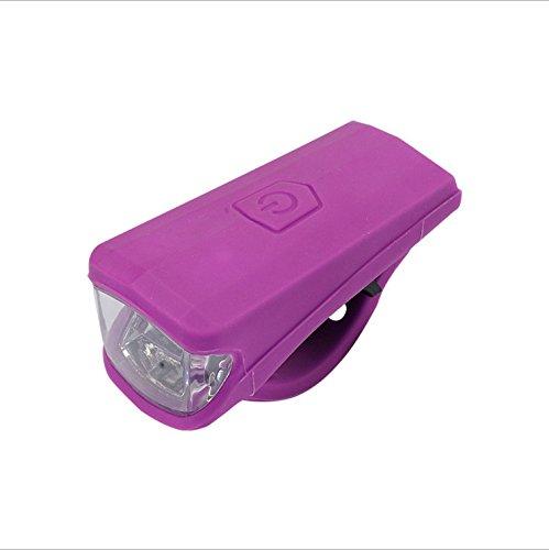 JinZhiCheng Exquisita Luz LED Gel de sílice USB recargable (morado)