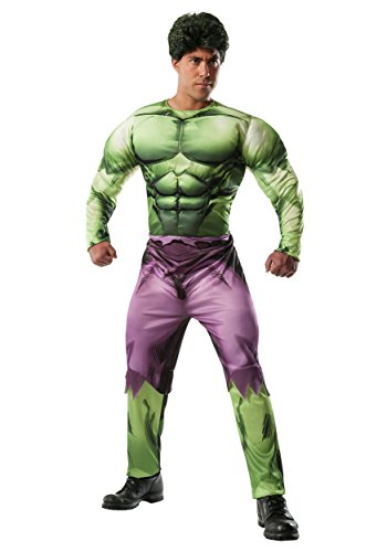 Rubie's Costume Men's Marvel Universe Adult Deluxe Hulk Costume, Multi, Standard (Adult Super Hero Costume)