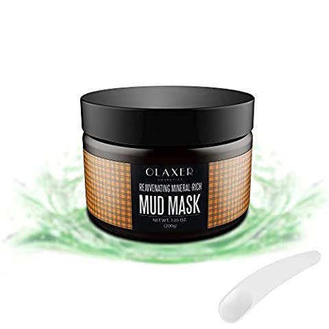 OLAXER SC007 Natural Mineral Mud Mask Clay Mask, Blackheads and Acne Remover, Pore Minimizer and Skin Rejuvenating, 7.05 - Best Clay Mask