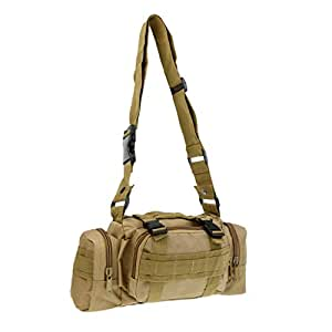 MagiDeal Fishing Tackle Bag Baits Lures Pliers Reels Waist Pack Handbag Shoulder Bag with Detachable Adjustable Strap