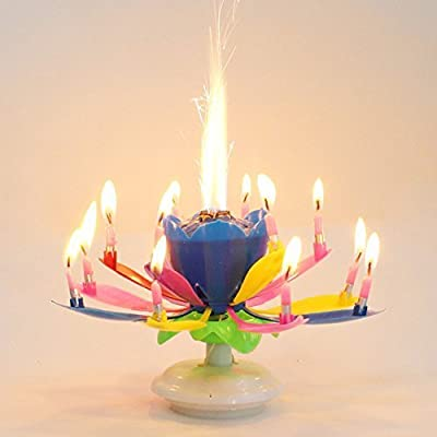 OUYAWEI Best Magic Musical Happy Birthday Candles (Rainbow): Toys & Games