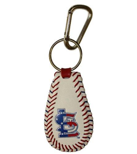 MLB St. Louis Cardinals Stars and Stripes Classic Baseball Keychain ()