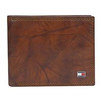 Tommy Hilfiger mens Rfid Blocking Leather Extra Capacity Traveler Wallet Bi-Fold Wallet One Size