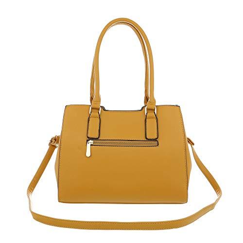 hombro Design Amarillo Ital mujer al para de Sintético Bolso wvxqFCtg