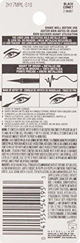 Maybelline New York Master Precise Ink Metallic Liquid Liner, Black Comet, 0.06 Fluid Ounce