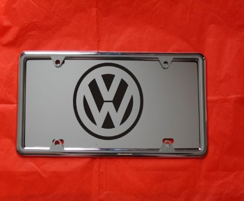 volkswagen chrome license plate - 4