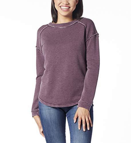 Jag Jeans Women's Belle Sweatshirt, Purple Plum, Medium