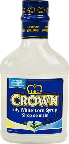Crown Lily White Corn Syrup 500ml/16.9 fl oz {Imported from - Corn Syrup Water