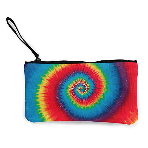Women's Wristlet Wallet Clutch for Smartphones with Wrist Strap Card Coin Purse Case - Colorful Tie Dye