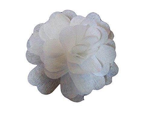 25Fiori Colore bianche in carta crespa a ouvri Decor di sala di tavolo Christian Fabrications 3700191308837