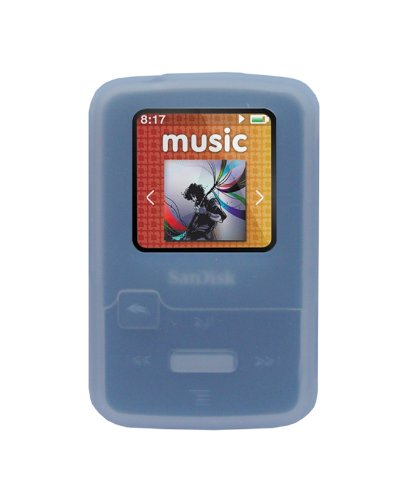 iShoppingdeals - for Sandisk Sansa Clip Zip 4GB 8GB MP3 Player (SDMX22) Soft Rubber Silicone Skin Case Cover, White