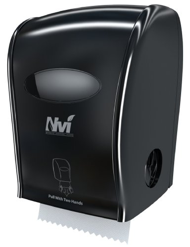 Solaris Paper D68006 Nvi Manual Hands Free Towel Dispenser, Black