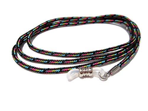 ATLanyards Colorful Paracord Eyeglass Chain, Eyeglass Lanyard with Clear Pieces ()