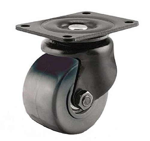 "Albion 20XP03228S02 3"" Diameter Solid Polyurethane Wheel Business Machine Low Profile Swivel Caster, Precision Ball Bearing, 3-5/8"" Length x 2-1/2"" Width Base Plate, 700 lb. Capacity Range from Albion"