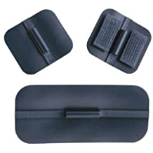 Uni-Patch 573 1.5 in. X 1.75 in. Sq., Pin, Non - Gelled, Carbon Rubber Electrodes 4 Per Pkg