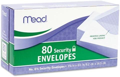 20 lb Mead Business Envelope 100//Box White 3 5//8 6 1//2