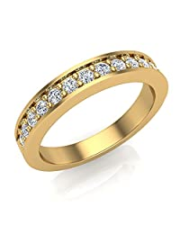 0.33 ct tw Round Brilliant Diamond Wedding Band Ring 14K Gold (G,I1) Premium Quality
