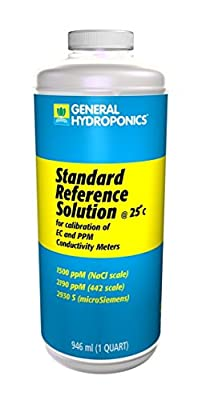 1-Pc Foremost Popular GH 1500ppm Calibration Solutions Technicians Check Reliable Results pH Hydroponics Volume 32 oz, Quart