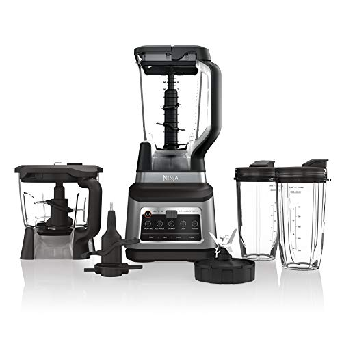 Ninja BN801 Professional Plus Kitchen System with Auto-iQ, and 64 oz. max liquid capacity Total Crushing Pitcher, Black…