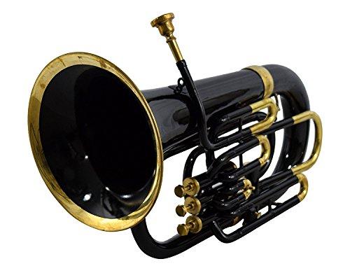 Queen Brass Bb Euphonium Black 4 Valve by Queen Brass