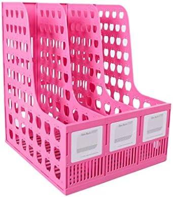 Datei Halter Ordner Aufbewahrungsbox Desktop-Datenspeicherregal Ordner Regal Convenience (Farbe: B) Xping (Color : B)