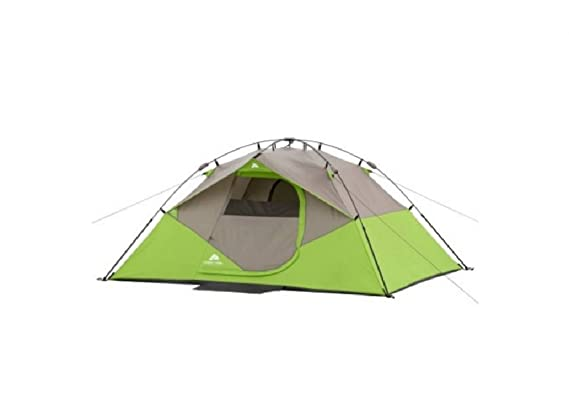 romatlink Ozark Trail 4 Person Instant Dome Tent, Green and Grey