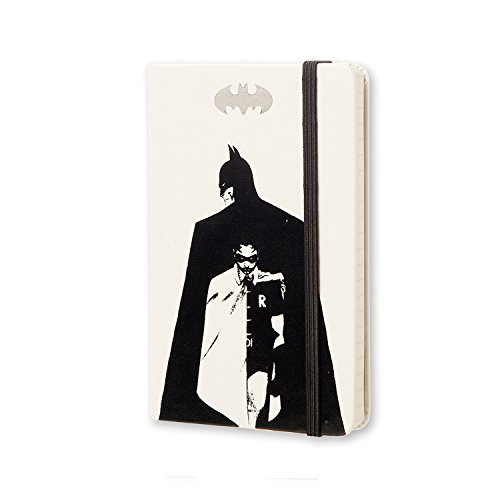 """Moleskine Limited Edition Batman Notebook, Hard Cover, Pocket (3.5"""" x 5.5"""") Ruled/Lined, White"""