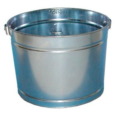 5QT GALVANIZED METAL PAIL (5 Quart Galvanized Metal Bucket)