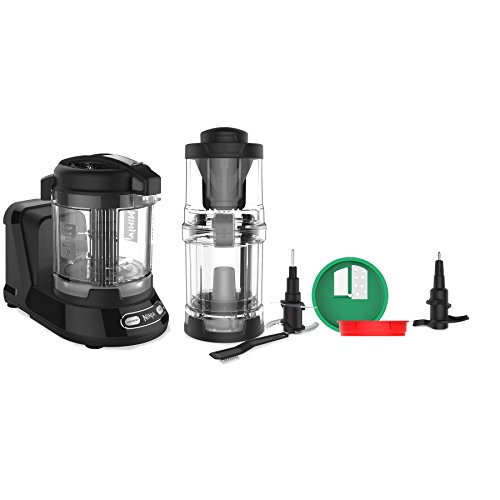 Ninja Food Processor with 400-Watt Base, 32-Ounce Precision Processor Bowl and Spiralizer for Chopping, Mixing, Pureeing, and Dough (NN310), Black (Ninja Food Processors)