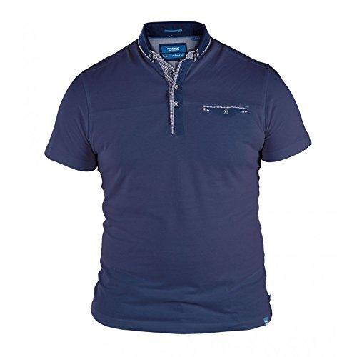 D555 Herren Poloshirt blau navy XXXX-Large