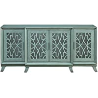 Treasure Trove 17298 Four Door Credenza, Teal