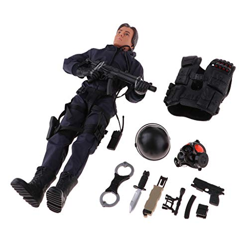 - B Blesiya Army Man Action Figures 1:6 Militaries Soldier Model Moveable Joints Male BJD Doll Soldier Figure Models Kids Pretend Play Toys - Rescue Soldier, as described