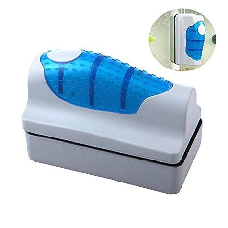 Amicc Cepillo magnético de cristal, limpiador de algas, acuario, pecera, curva flotante: Amazon.es: Hogar