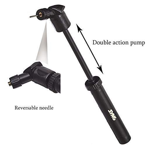 SYN6 Double Action Air Football Pump  Black Colour