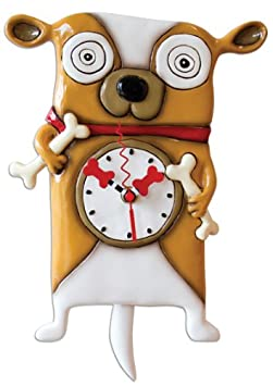 Allen Designs Roofus Dog Pendulum Clock