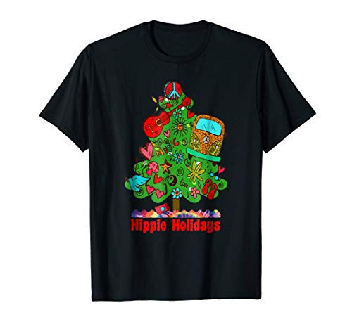 Groovy Christmas Tree - Hippie Holidays Christmas Tee