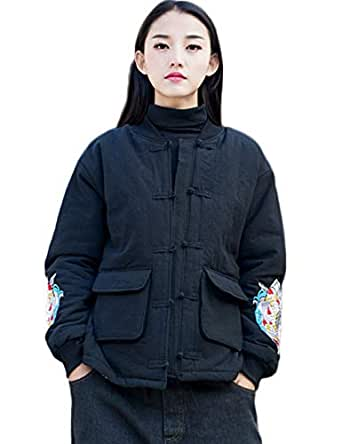 Women's Chinese Style Cotton Padded Coats Embroidered Tang