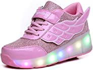Ufatansy Roller Shoes Colorful LED Lights Children Light Up Roller Skate Shoes Fashion Sneakers for Girls Boys