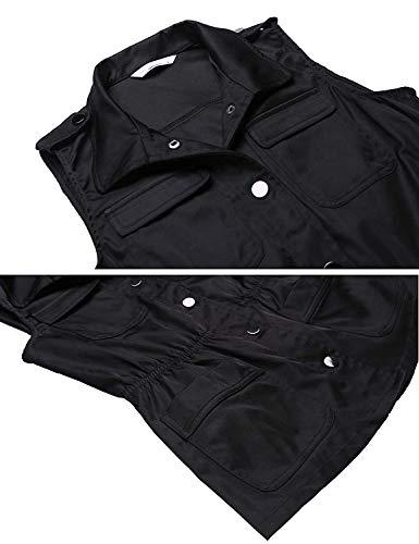 Fit Schwarz Bavero Libero Cappotto Giacca Donna Slim Tempo Outerwear Giovane Autunno Colori Fashion Solidi Primaverile Smanicato Gilet Eleganti f1IqTwR