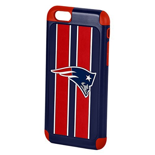 Forever Collectibles Official Licensed NFL Dual Hybrid 4.6'' iPhone 6 Rugged Case - Retail Packaging (New England Patriots)