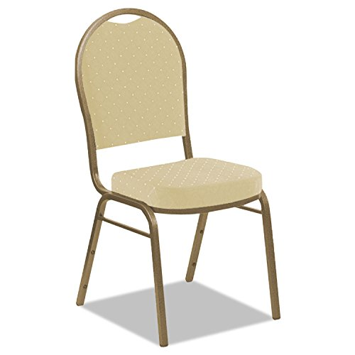 Iceberg 66243 Banquet Chair, Dome Back, Tan Pattern, Gold Frame, 4-Pack