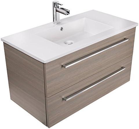 Cutler Kitchen Bath Silhouette Collection 36 Wall Mount Bathroom Vanity Aria