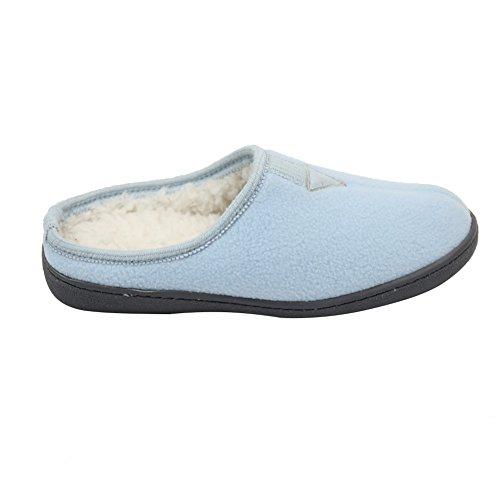 Gohom Mujeres Memory Foam Terciopelo Interior Zapatillas Azul Claro