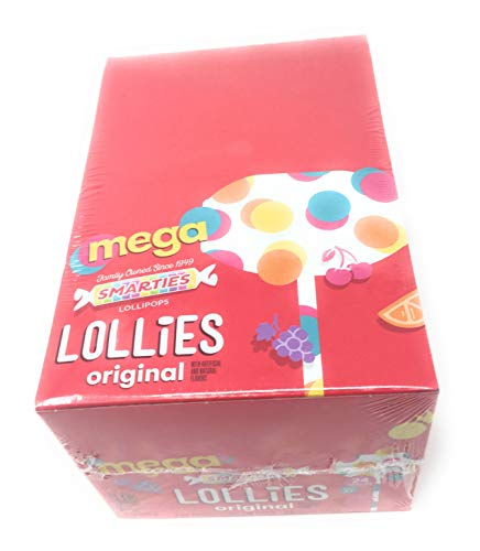 Double Lollipops - Smarties Mega Double Lollies (24 Ct)