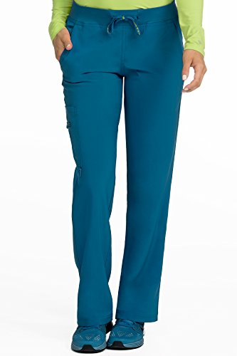 Med Couture Scrub Pants Women, Yoga Cargo Pocket Scrub Pant, Large Petite, Caribbean from Med Couture