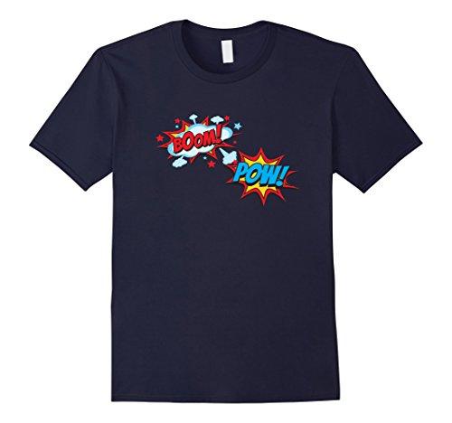 Mens Comic Book POW Shirt Funny BOOM Retro Superhero Costume 3XL (Pop Art Comic Man Costume)
