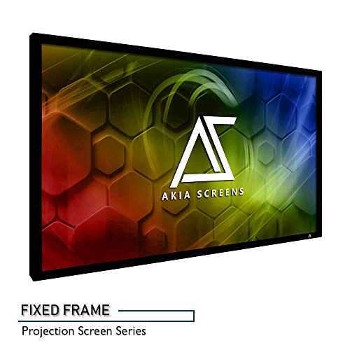 Akia Screens 120 INCH Projector Screen 16:9 Fixed Frame Projector Screen 8K / 4K Ultra HD 3D Ready Movie Projector Screen HD Projector Screen Fixed Frame Series AK-FF120WH2