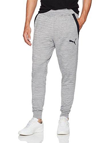 (PUMA Men's Tech Fleece Trackster Pants, Gray, S)